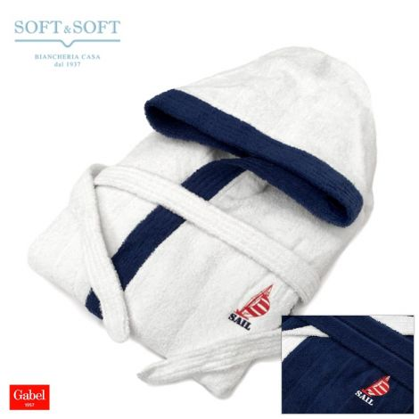 SAIL Hooded Bathrobe with pockets by GABEL