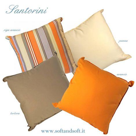 SANTORINI cuscino per esterno-interno teflonato cm 50x50 Antimacchia