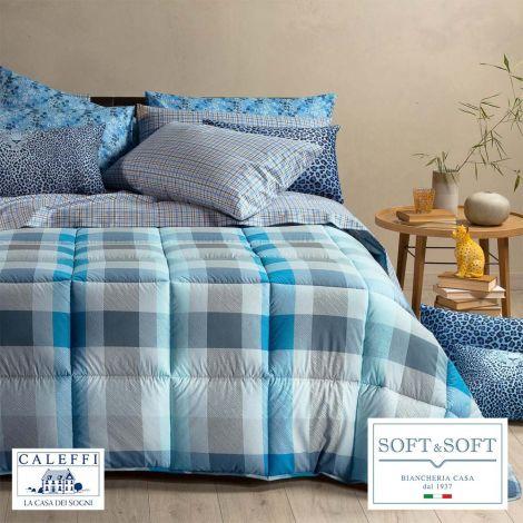 SCOTLAND Winter Quilt Size SQUARE AND HALF 220x265 CALEFFI Avio