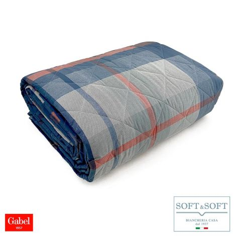 SCOTT spring quilted bedspread for DOUBLE 260x265 Gabel-Navy