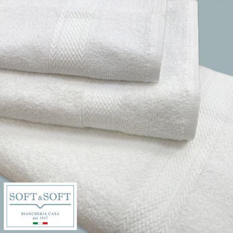 Siri asciugamano telo bagno cm 100x150 bianco puro cotone gr.380