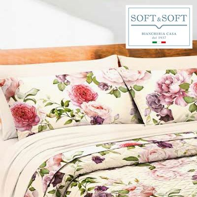 SIX 02 satin flounce sheets with 4 GFFERRARI pillowcases