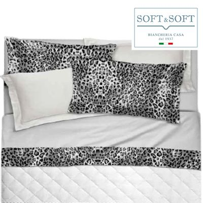 SIX 09 satin flounce sheets with 4 GFFERRARI pillowcases