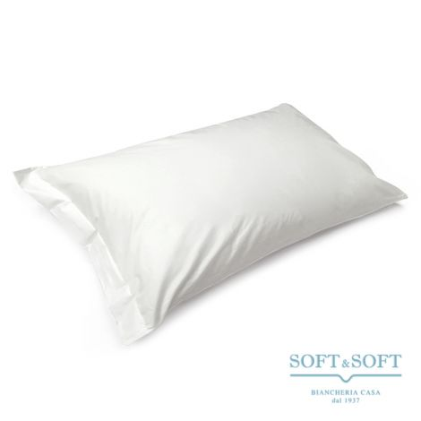 SOFFIO Percale Pillowcase Pure White Cotton