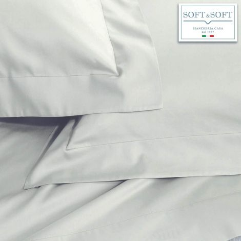 SOFT MAXI Sheet set for DOUBLE KING size bed cm 200X200 + 35 Gray