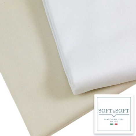 Cocò bottom sheet with elastic MAXI cm 180X220 + 35 Cotton Satin Double bed
