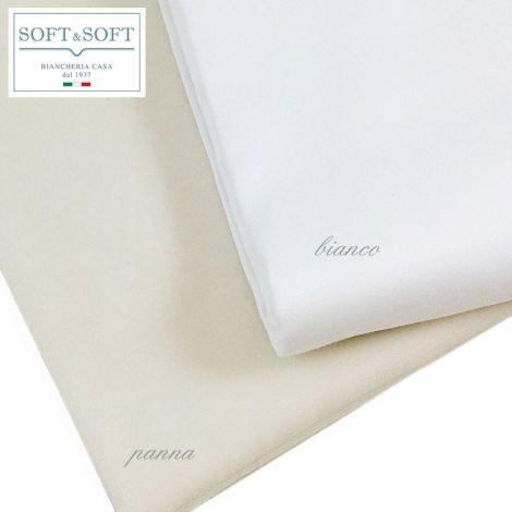 Cocò lenzuolo da sotto con elastico MAXI cm 180X220+35 letto Matrimoniale Raso di Cotone