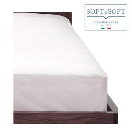 PRISMA lenzuolo da sotto con elastico MAXI cm 180X220+35 letto matrimoniale Bianco
