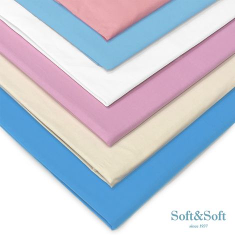 SOFT&SOFT Solid color Fitted Sheet cm 140x210 French Bed