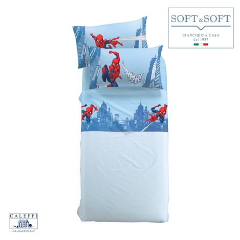 SPIDER-MAN CITTA' Sheet set for single bed Marvel CALEFFI