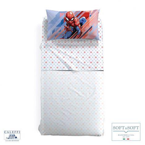 SPIDER-MAN FLASH Completo Lenzuola Misura SINGOLA Marvel CALEFFI