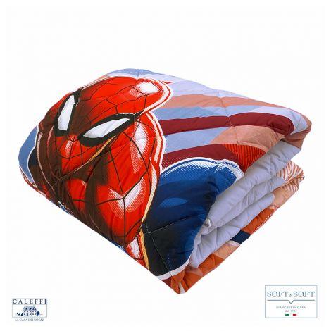 SPIDER-MAN FLASH trapunta invernale cotone SINGOLA Marvel CALEFFI
