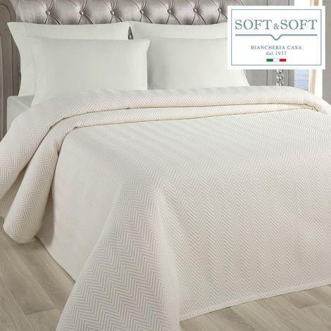 SPINA single bedspread in matelassè jacquarde fabric 170x260 cm