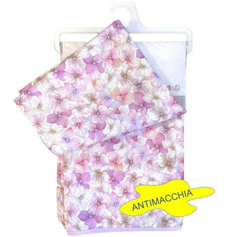 Splash Tovaglia Idrorepellente rettangolare x 6 cm 140x180 fiori rosa