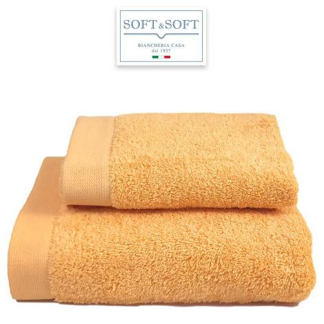 STAR 600 set 2 asciugamani viso e ospite 600 gr/m²-Giallo