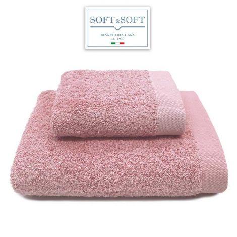 STAR 600 set 2 asciugamani viso e ospite 600 gr/m²-Rosa Thea