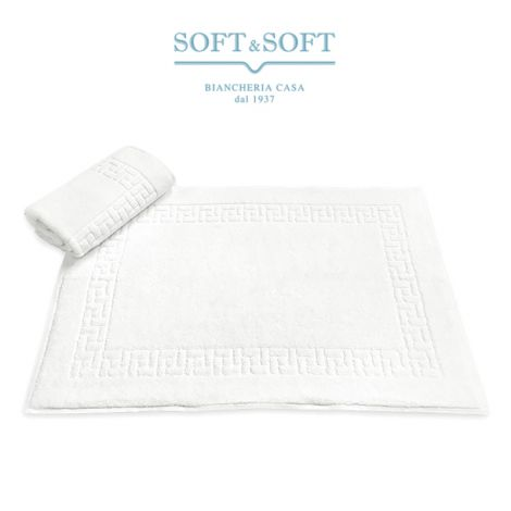 GREECE Bath Shower Mat 50x70 cm in heavy terry with Greek frame