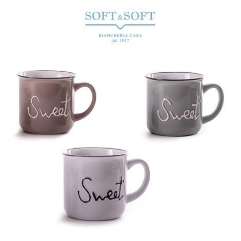 Tazza in porcellana Stoneware disegno Sweet