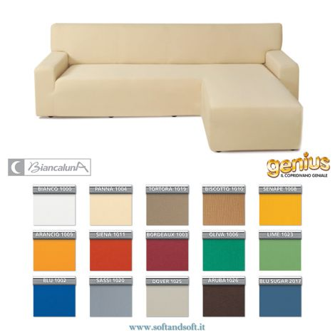 Genius 4D SWING chaise longue Right side Sofa Cover Biancaluna