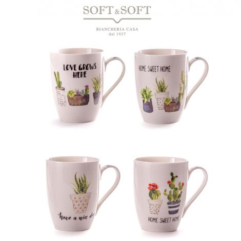 New Bone China porcelain mug with Jardin design