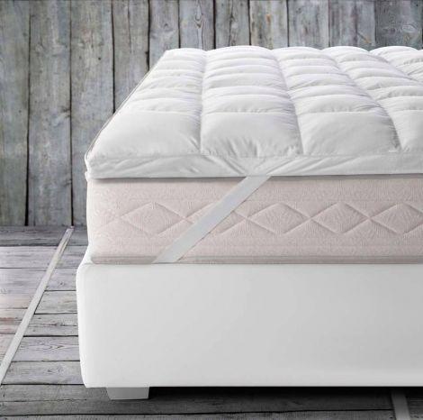 Coprimaterasso sopra materasso imbottito per riposare meravigliosamente