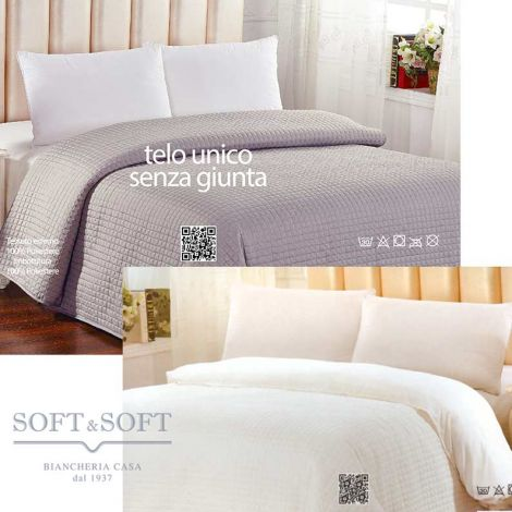 VALENCIA duvet cover quilt two in one single bed NO IRON