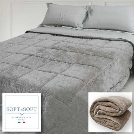 VELLUTO trapunta per letto matrimoniale in velluto Luxory cm 270x270