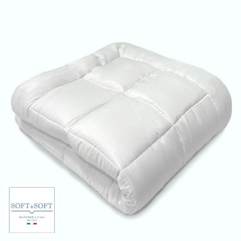 WHITE microfibre winter duvet 300g SINGLE size