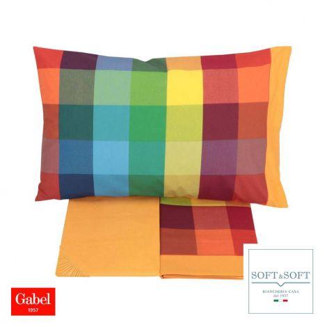 WILSON completo lenzuola letto SINGOLO madapolam puro cotone GABEL-Multicolor
