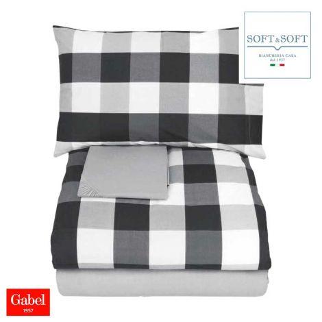 WILSON Duvet cover set for double bed GABEL - gray