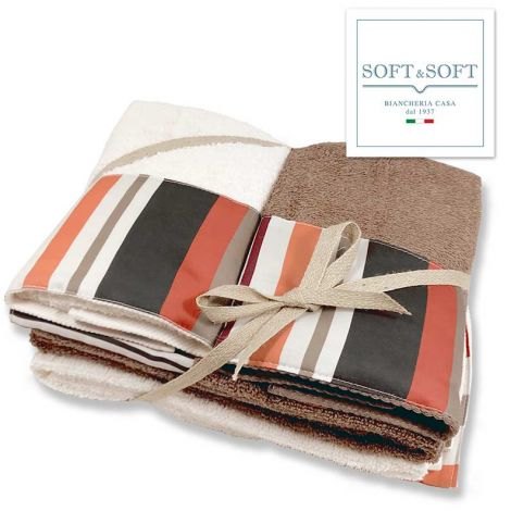 YORK terry towel set 2 + 2 Made in Italy - orange