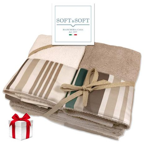 YORK terry towel set 2 + 2 Made in Italy - Green