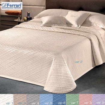 Copriletto in Piquet per letto singolo di peso estivo, tinta unita con rombi a rilievo