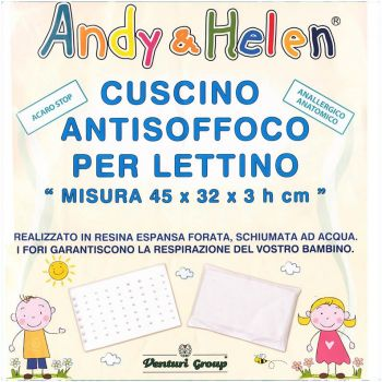 Cuscino baby Lettino Antisoffoco Andy & Helen