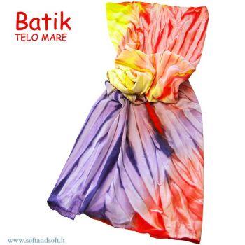 BATIK Towel  Pareo 90x160 cm (Micro Towel) Orange