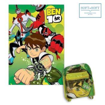 Ben Ten Pile Plaid + Schoolbag cm 130x160