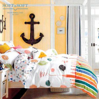 CARI ART.3 Duvet Cover Parure in Pure Cotton Percale SINGLE Bed