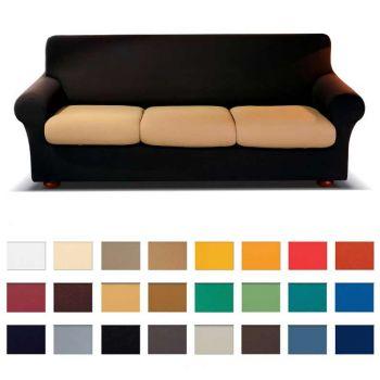 Copridivano Genius 3 Posti.Genius 4d Sofacover Two Place Stretch Anti Stain Biancaluna