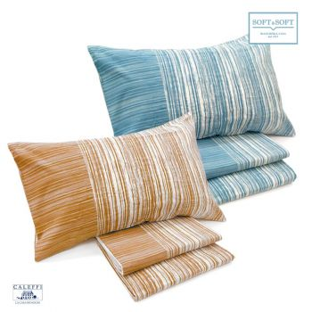 CORTINA completo lenzuola misura MATRIMONIALE in cotone CALEFFI