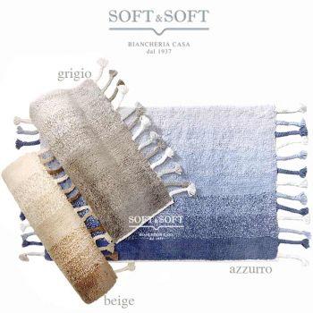 Cotton melange tappeto cm 50x80 in cotone per cucina bagno camera