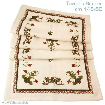 FAENTINA ROMAGNOLA tablecloth runner cm 45x150