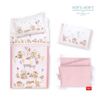 HAPPY PARTY - Quilt and Bumper for cots - Gabel - Baby