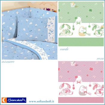 PUPPY Quilt and Bumper for cots Biancaluna - Baby