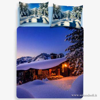 CHALET Digital Print Duvet Cover Parure for Double Bed