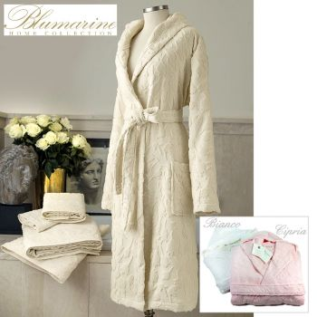 accappatoio di lusso Blumarine da Donna nei colori bianco panna rosa