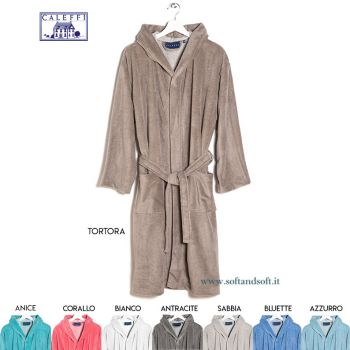CONFORT  Hooded Bathrobe by CALEFFI