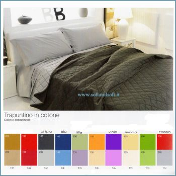 COLORED Quilted Bedcover for double bed Biancaluna