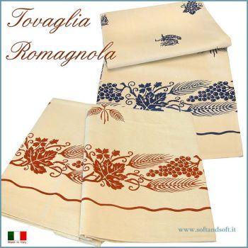 Romagnola Table cloth for 12 cm 150x240 Pure Cotton