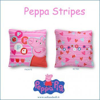PEPPA PIG STRIPES Cuscino Arredo cm 40x40