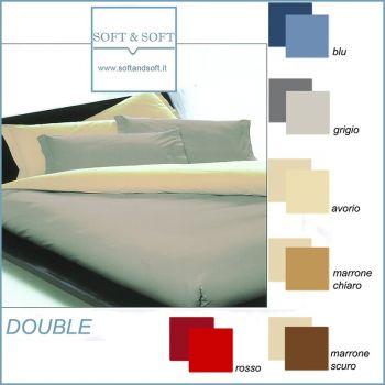 DOUBLE DOUBLE-FACED Parure Duvet Cover Set for double beds
